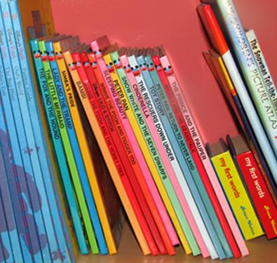 Algunos libros de la biblioteca